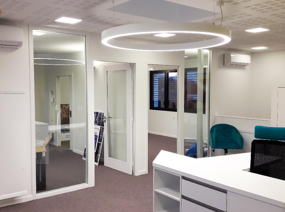 éclairage bureaux